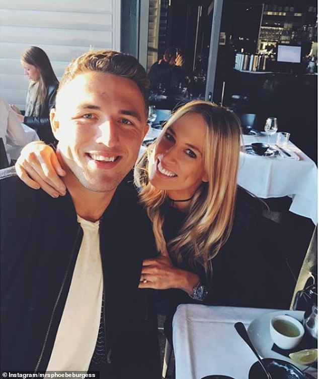 False: Sam, who split with wife Phoebe Burgess (pictured) in October, told Daily Mail Australia the reports were 'not true'