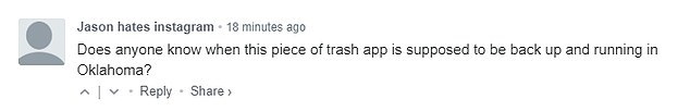 Others have shared their frustration at the constant issues they have experienced with the app lately