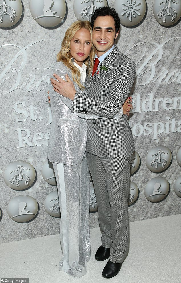 Fun times: Rachel Zoe and Zac Posen pose together in their stylish suits