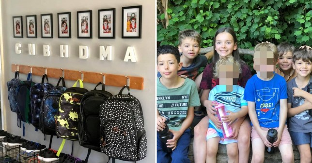 Mum-of-seven creates school bag station to make getting ready easier every morning