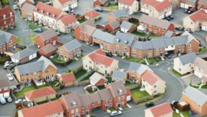 Aerial view of housing estate