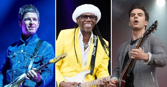 Noel Gallagher, Nile Rodgers and Kelly Jones