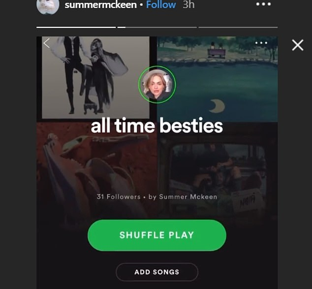 Spotify will let influencers load up public playlists with stories (pictured) that can be clicked thru similarly to Instagram or Snapchat