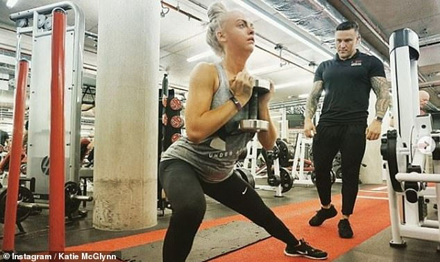 Transformation: The TV star revealed that she lost a stone in weight following her exit from the soap in October and recently shared this workout snap on Instagram