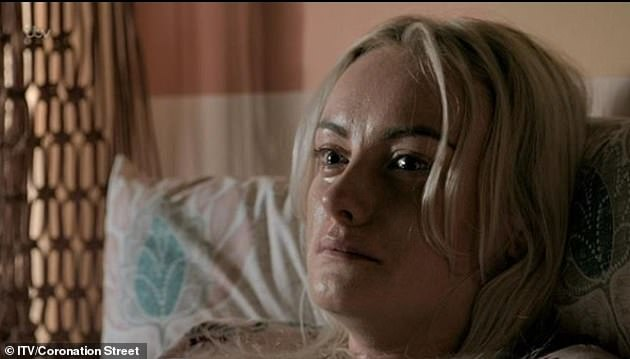 Heartbreaking:Katie played Sinead from 2013 to 2019 and in October the character lost her battle with cervical cancer (pictured on the show)