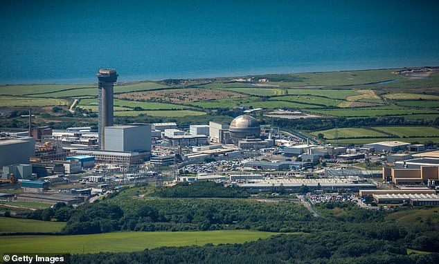 Aerial photograph of the nuclear fuel processing site of Sellafield, Cumbira, which isEurope's largest nuclear site