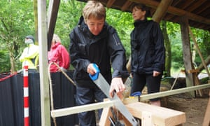 Centre for Alternative Technology in Wales People taking part on the Build a Tiny House course