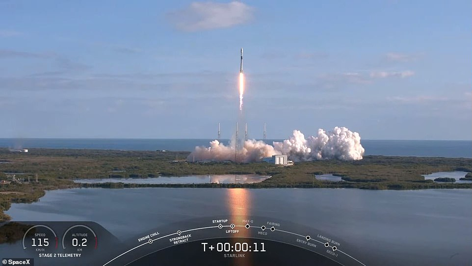The mission took off from the launch pad 'Slick 40' at Cape Canaveral and avoided the poor weather conditions of the previous two days