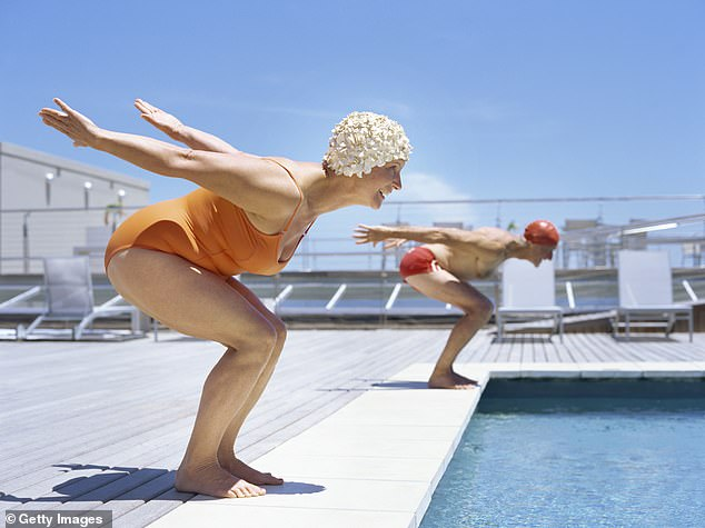 GO SWIMMING AT LEAST ONCE A WEEK: Swimming is great exercise, boosts circulation, helps to build muscle and improve flexibility, and can also be quite a social activity