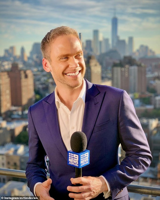 New kid on the block: Steve parted ways with Channel Nine late last year, after being replaced as the Today's show weather presenter by Tim Davies (pictured)