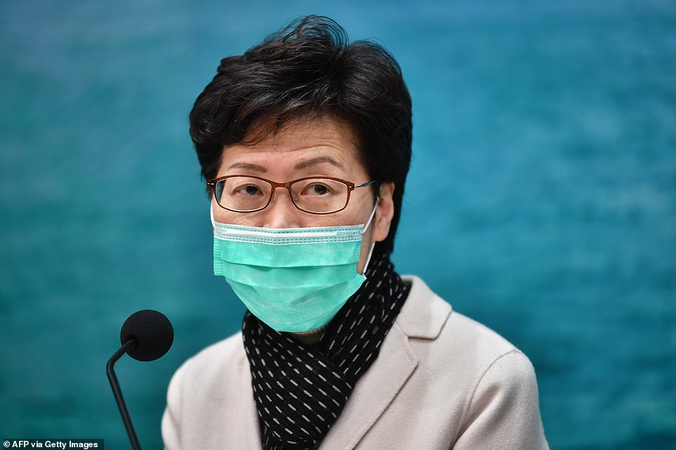 Hong Kong's chief executive, Carrie Lam, gave a press conference today while wearing a face mask and announced drastic travel restrictions between the city and mainland China