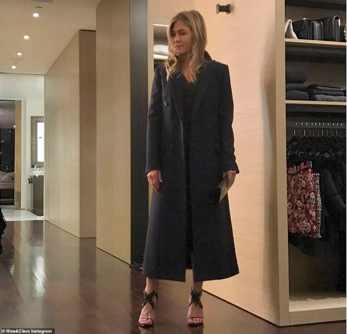 Wow factor:Her master suite also includes an enormous walk-in closet, which her stylists Nina and Clare Hallworth shared a peek of in October