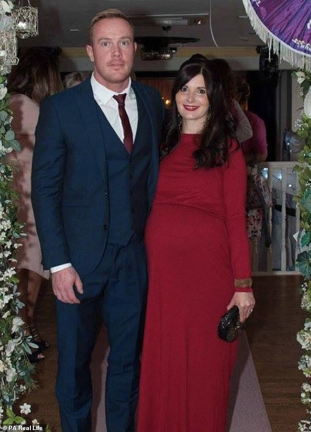 Holly, whose husband, Tom (pictured together), 36, works in mobile advertising, said: 'As you would expect, we were utterly heartbroken by the diagnosis'