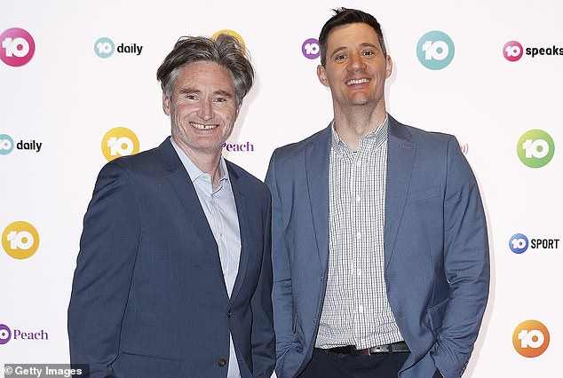 Health advice: After telling radio hosts Dave 'Hughesy' Hughes (left) and Ed Kavalee (right) she had thrush, Hughesy told Charlotte she should try easing the symptoms with yoghurt