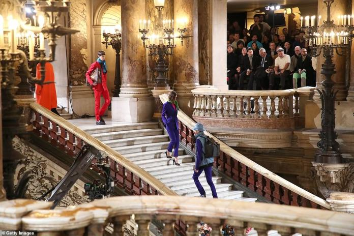Picturesque:The fashion show took place at the picturesque Palais Garnier opera house in the heart of Paris, which has been a staple of the French arts scene for more than 100 years