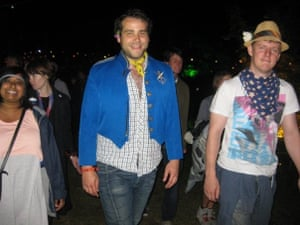 Max and Toby Boon at a music festival in 2009