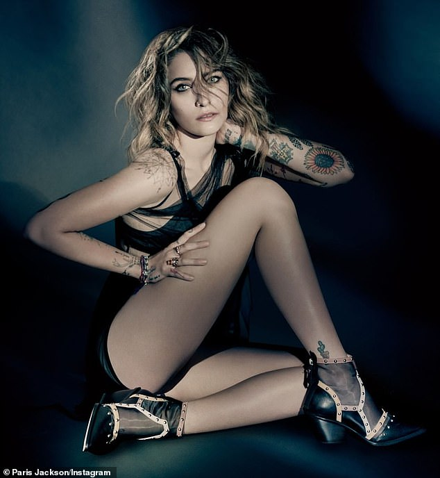 Striking a pose: Jackson has sent temperatures soaring in her latest campaign for AGL shoes