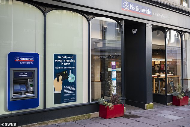 This first trial of the concept on a British high street is being run at the Nationwide's Union Street branch in Bath and aims to revolutionise charitable donations.