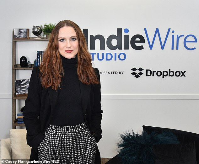 Working it: Wood and some co-stars attended the IndieWire Studio to talk up the film