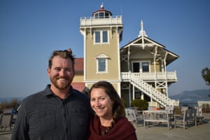 Tiffany Danse and Tyler Waterson, keepers of the East Brother Light Station Bed & Breakfast, California, USA