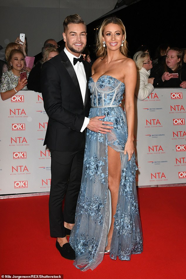 Acrimony: Back in January 2018, Chris and Olivia rowed at the National Television Awards , with the blonde beauty blaming Chris' excessive drinking