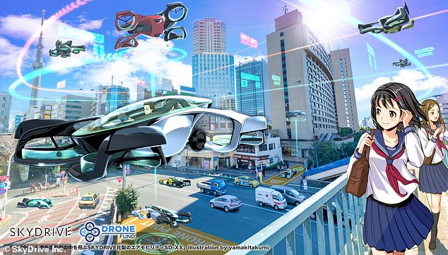 SkyDrive says the flying car could help alleviate traffic and congestion in big cities