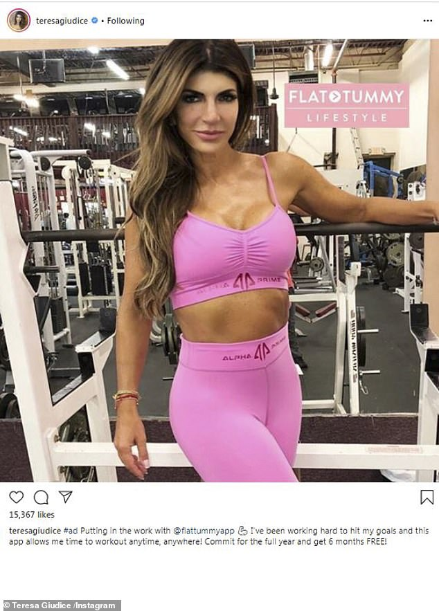 She is serious about looking good: The star works out daily; seen here last week in NJ