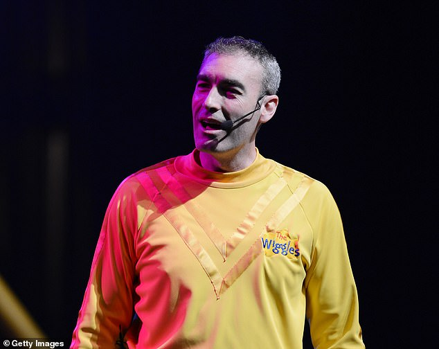 Wiggles lead singer Greg Page suffers from a crippling nervous system disorder that caused him to collapse during a reunion concert for bushfire relief on Friday. He is pictured at a concert in Miami Beach in 2012