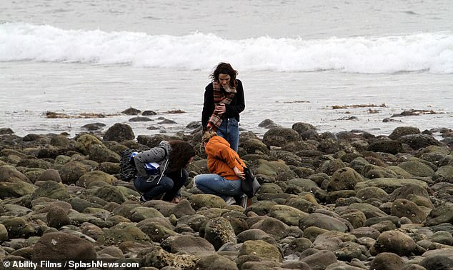 Explore: Michelle and her friends were seen walking on the rocks as they enjoyed their day