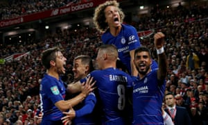 Happier times, with Chelsea in 2018.