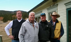 Neil Mahoney (right) with brothers (from left) Patrick, Tim and John in Boulder, Colorado, in April 2013.