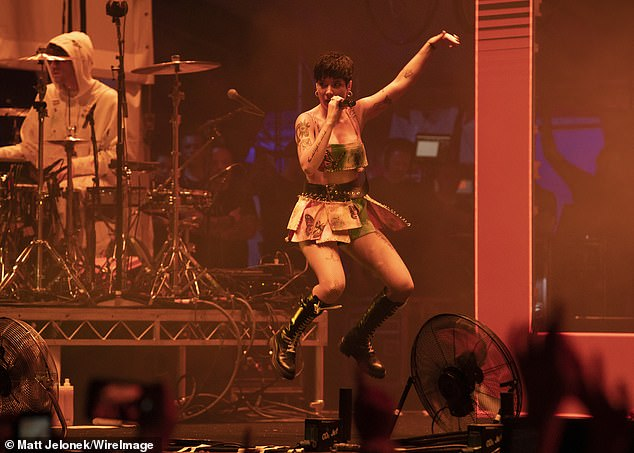 Romance will soon take a backseat: The You Should Be So Sad songstress kicks off her 48- date Manic World Tour on February 6 at Spain's WiZink Center in Madrid (pictured January 5)