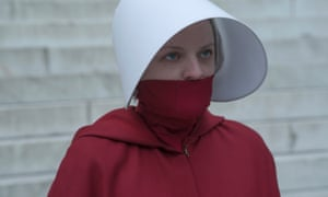 Elisabeth Moss as June in The Handmaid's Tale.