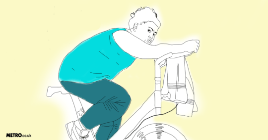 Gym bike illustration