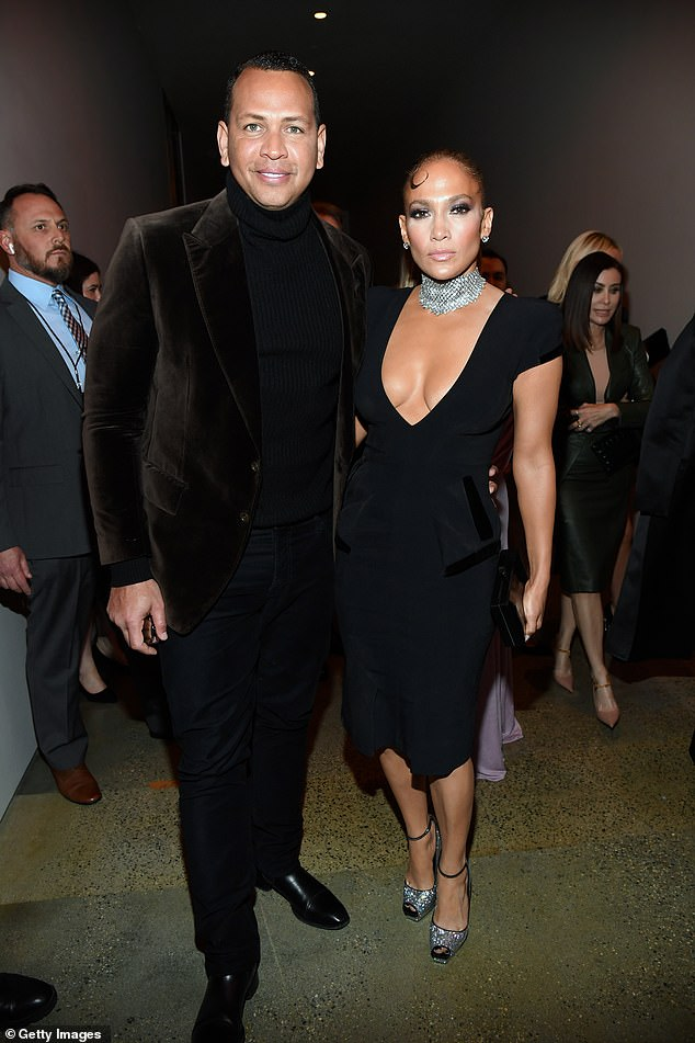 Double trouble! Jennifer Lopez threatened to steal the spotlight as she headed to the runway event with her fiance, Alex Rodriguez, at the Tom Ford fashion show in Hollywood