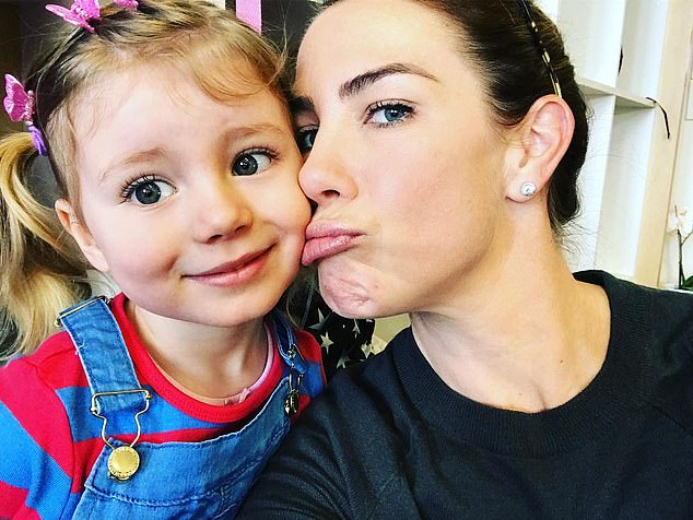 'My life is pretty unglamorous': Kate Ritchie, 41, (pictured) has revealed the 'daunting' task of motherhood during an interview with The Morning Show on Monday. Pictured with daughter Mae, six.