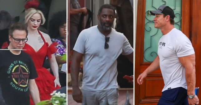 Margot Robbie, Idris Elba and John Cena