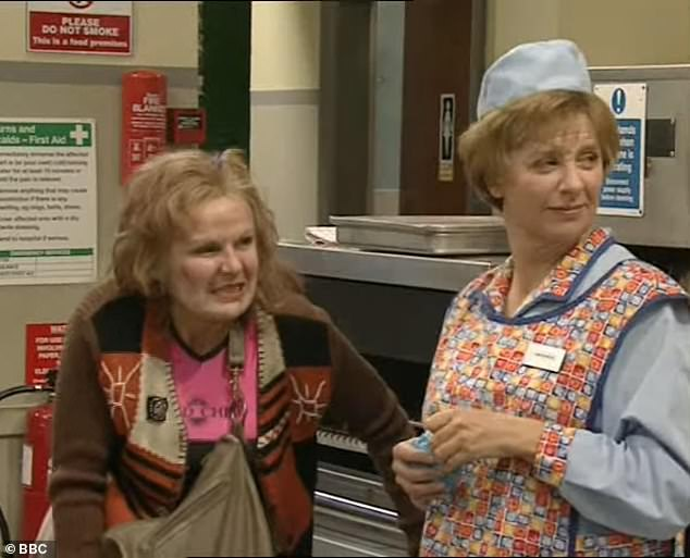 I thought about how frightened she would have been: The experience has led the star to reflect on her close friend and comedy partner Victoria Wood's (right) terminal cancer diagnosis