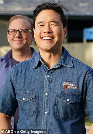 Ed will be joined by Randall Park (pictured) as a host for NBC's version