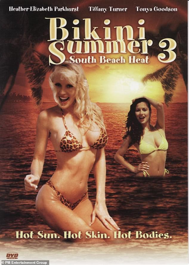 She made her way into films: The siren is seen here in the poster for Bikini Summer 3