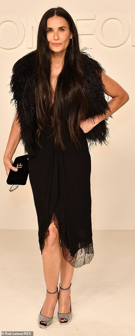Still got it: Demi was all class in all black