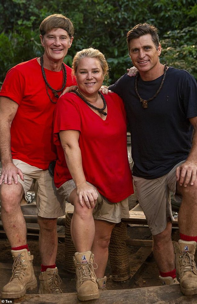 Winner, winner: Aside from being a celebrity correspondent for Studio 10, and for Channel Nine's Today show in the past, Richard also won I'm A Celebrity... Get Me Out of Here! in2019 (pictured with Yvie Jones and Shane Crawford)