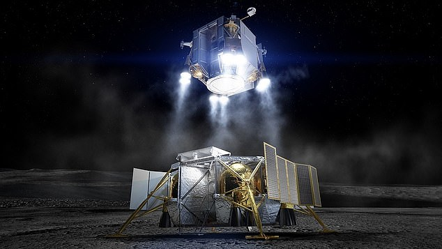 However, NASA officials are concerned that 'the bill imposes some significant constraints on our approach to lunar exploration', as the moon landing (artist impression) will act as a stepping stone and allow astronauts to develop the necessary skills before heading to the Red Planet