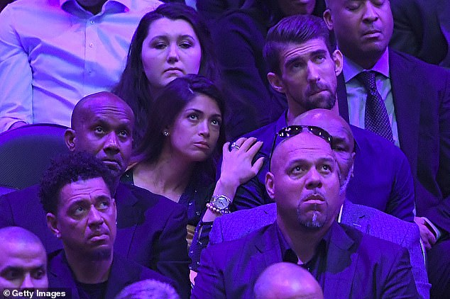 Fellow sportsmen: Michael Phelps and his wife, former Miss California, Nicole Johnson
