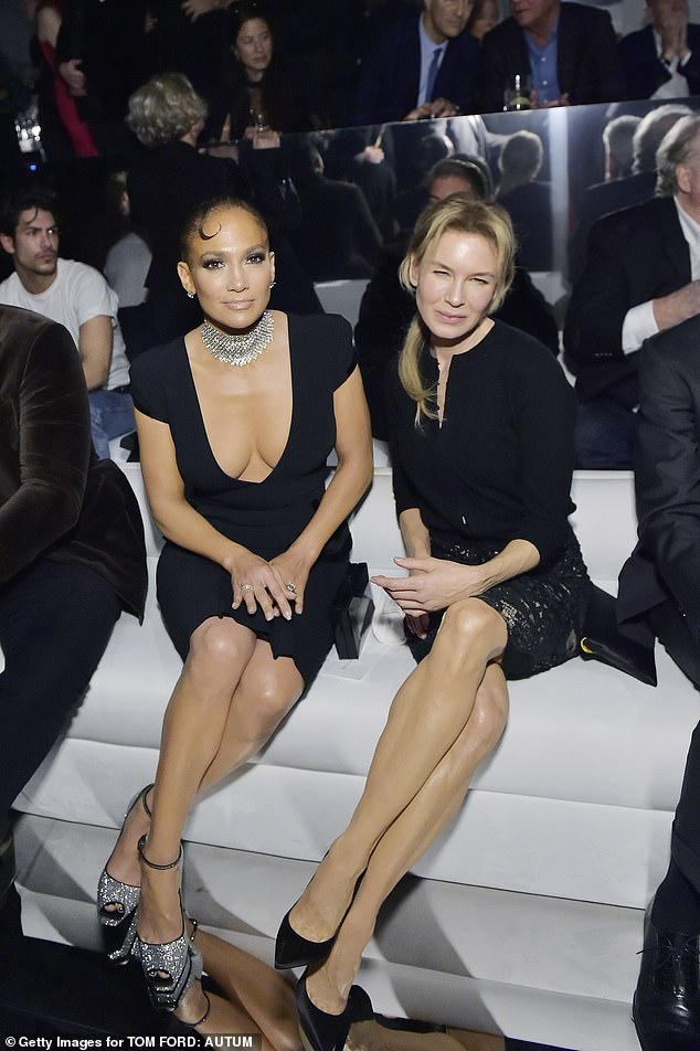 The stars aligned!Inside the runway show, JLo rubbed elbows with several stars, including Renee Zellweger