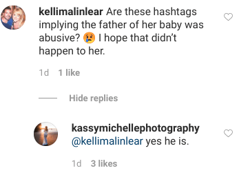 She responded to followers about the situation in her comments section