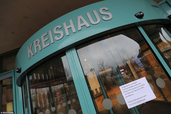 The headquarters of the North-Rhine Westphalian district of Heinsberg, Germany, has been closed because of one of the two new cases in the country