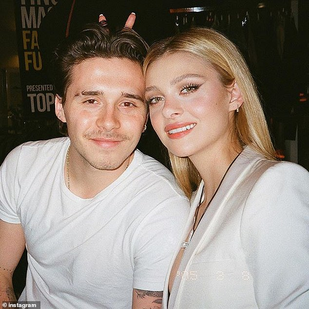 Getting serious:Brooklyn Beckham, 21, is reportedly moving in with his girlfriend Nicola Peltz, 25, in New York, just four months after they started dating
