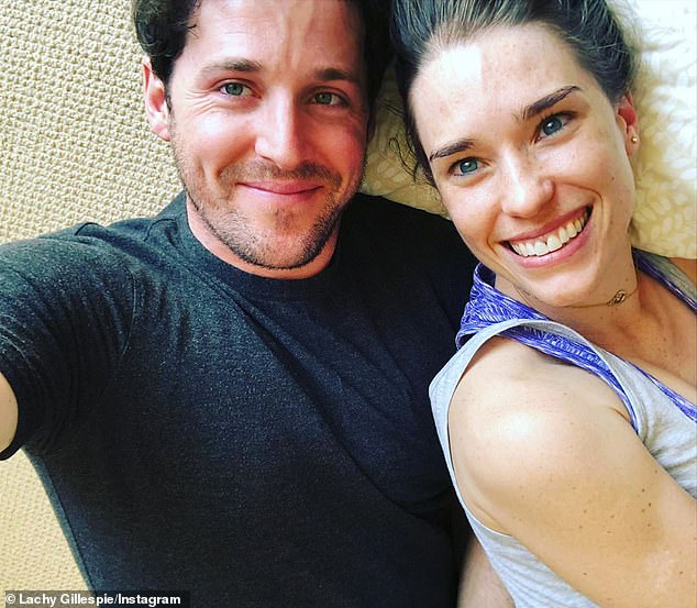 How cute! Lachy Gillespie shared a sweet selfie with his ballet dancer girlfriend Dana Stephensen as they self-isolated together on Monday