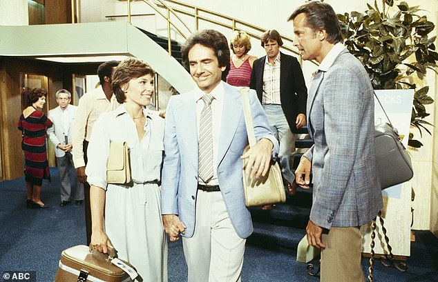 A good set for him: The tall actor often appeared on The Love Boat; seen with Richard Kline, Jennifer Salt